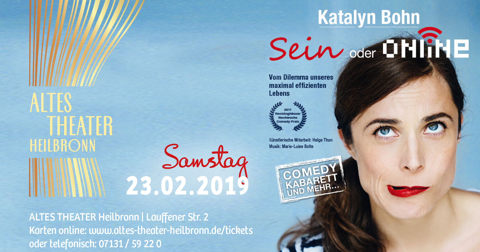 Katalyn Bohn im ALTES THEATER Heilbronn