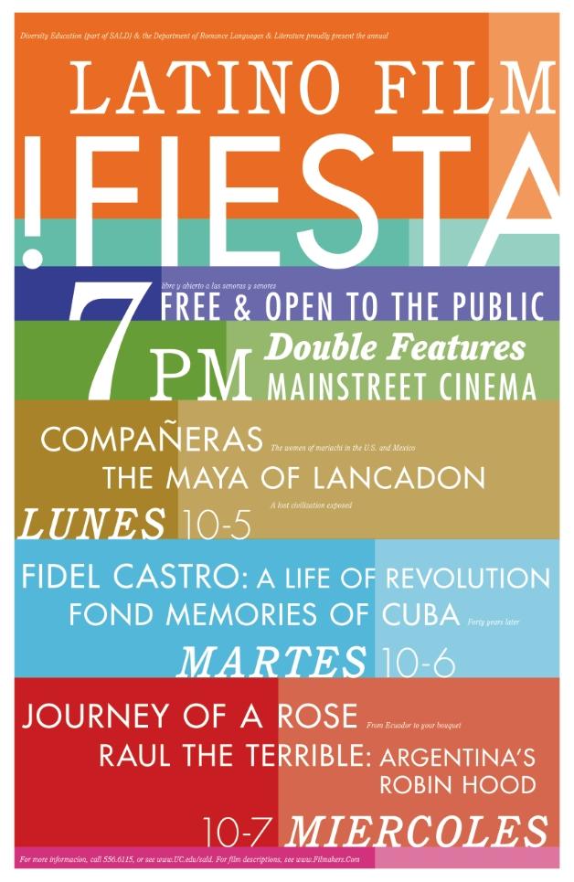 "Latino Film Festival Poster. 11"" x 17""."