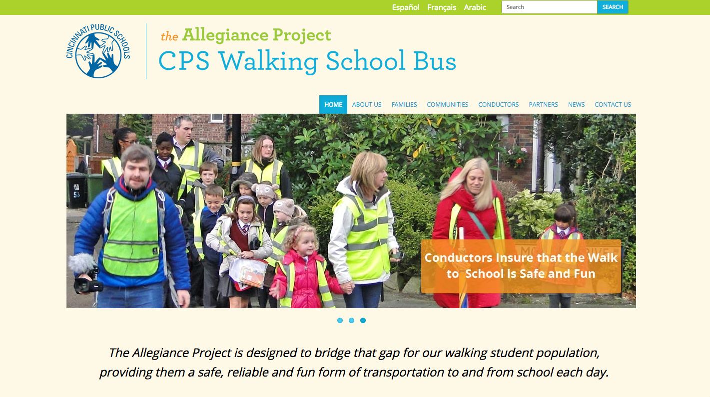 The Allegiance Project logo on the program's website.