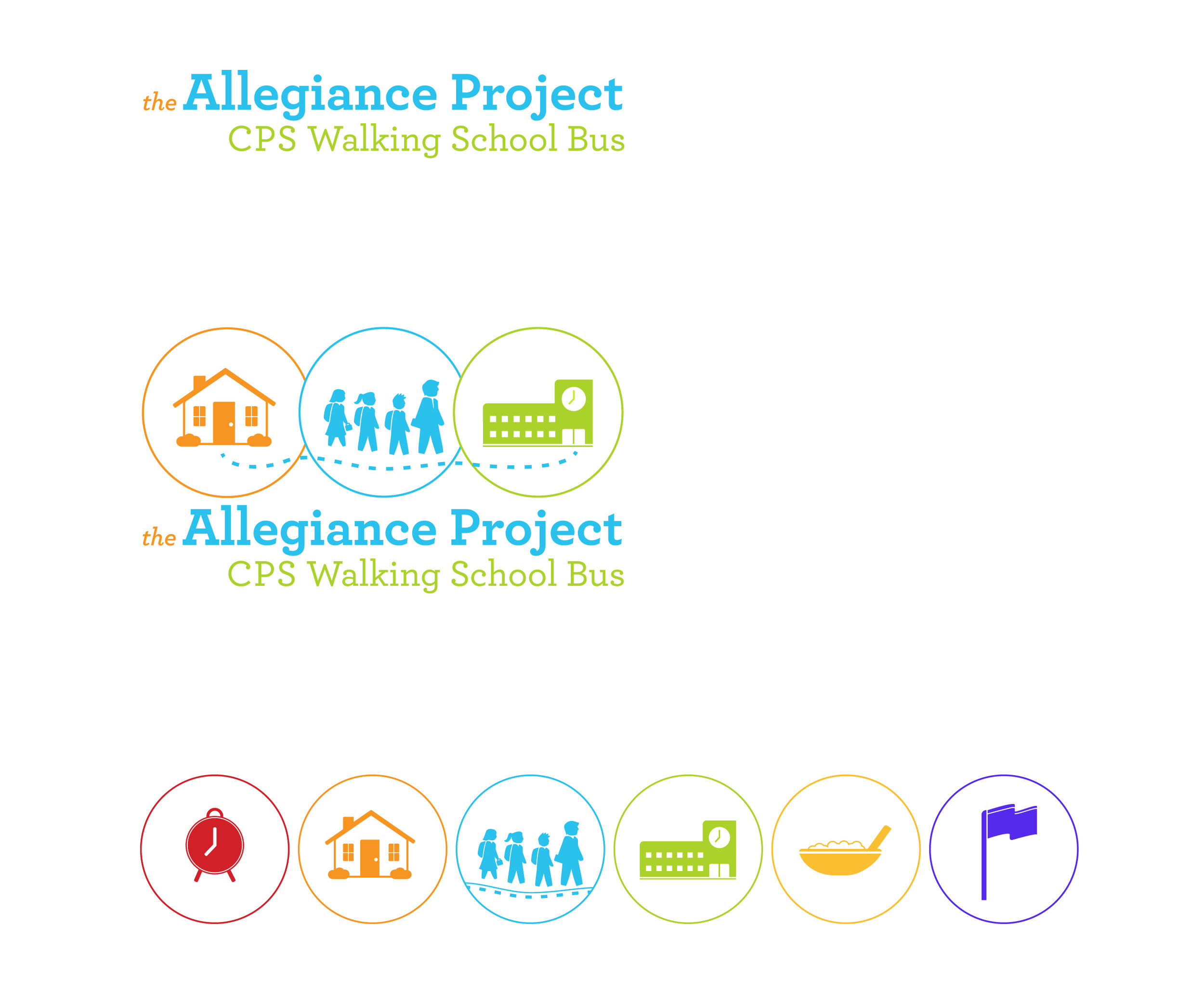 Allegiance Project Logo & Icon Set, color outlines.