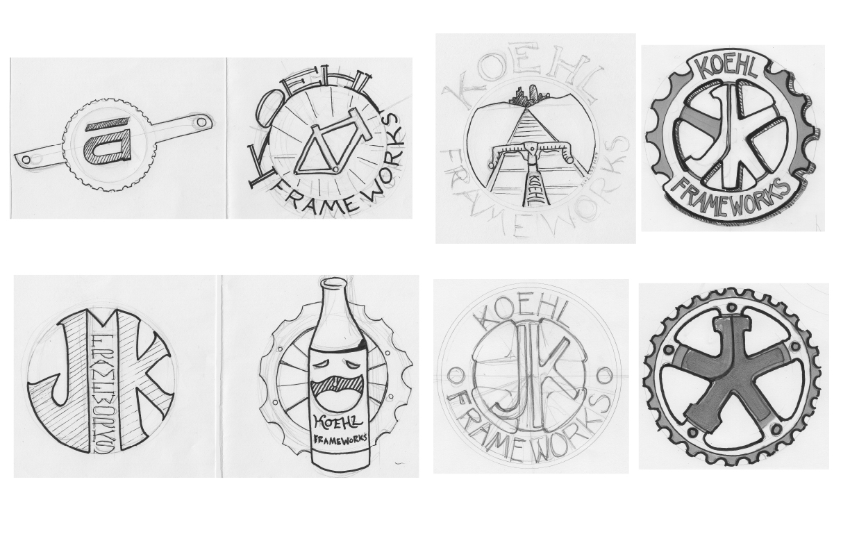 Headbadge sketches for KFW.