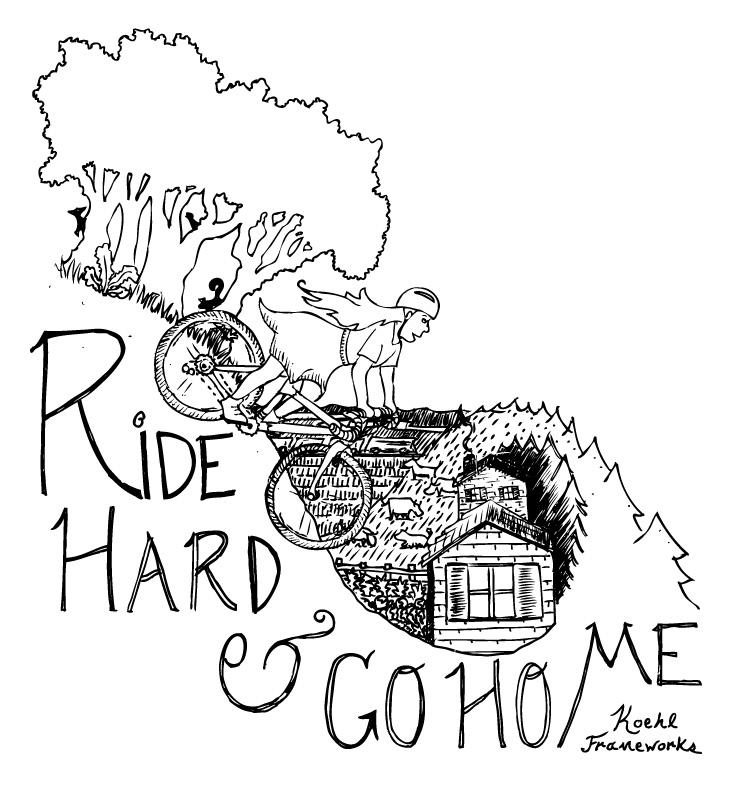 Ride Hard AND Go Home . Pen & Ink Illustration.