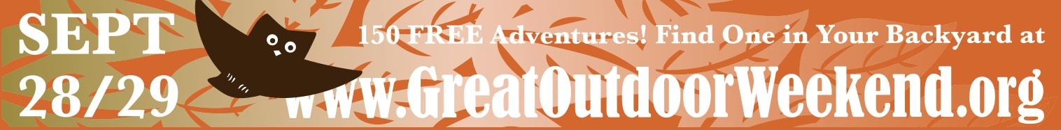 Great Outdoor Weekend web ad, leaderboard.