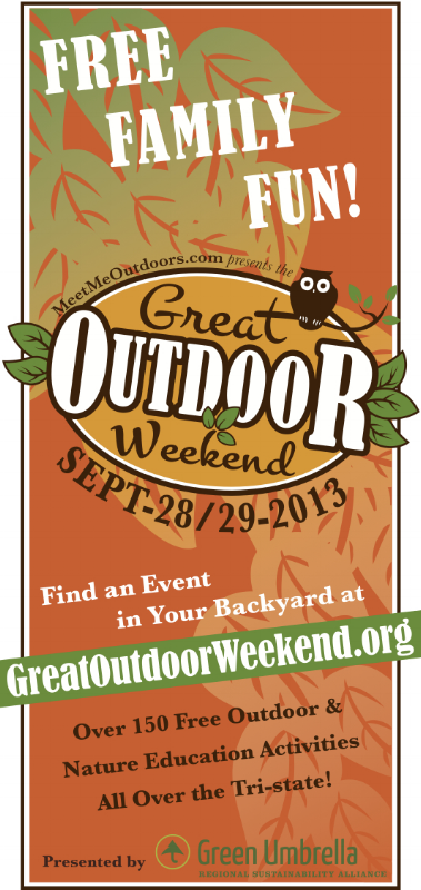Great Outdoor Weekend print ad. Vertical 1/8 page magazine & newspaper.