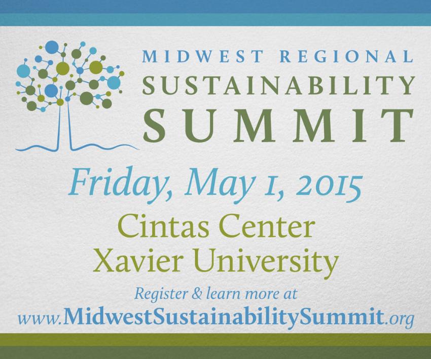 Midwest Regional Sustainability Summit web ad, e-blast format.