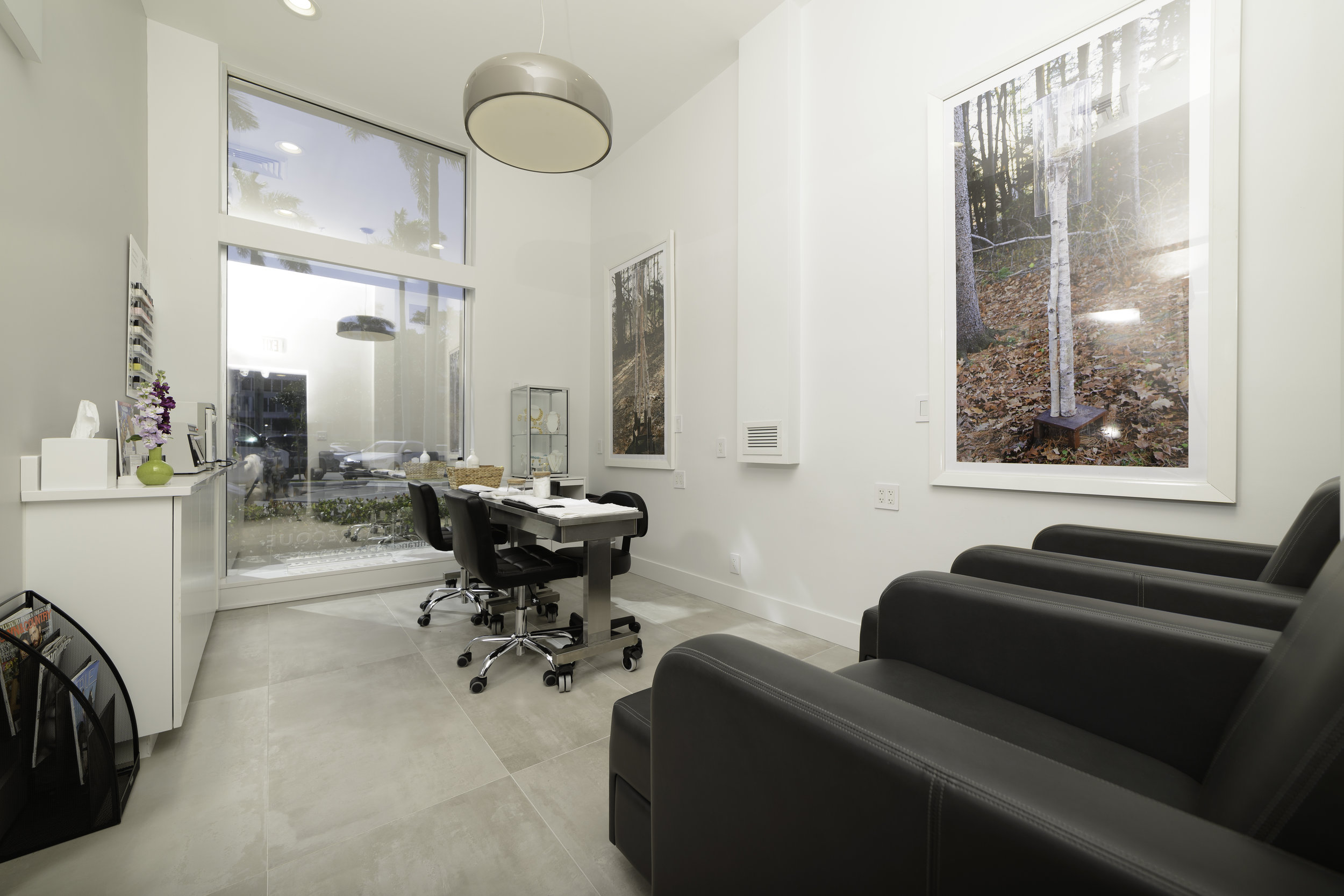 "The nail ""nook"" within Paul Labrecque Salon + Spa."
