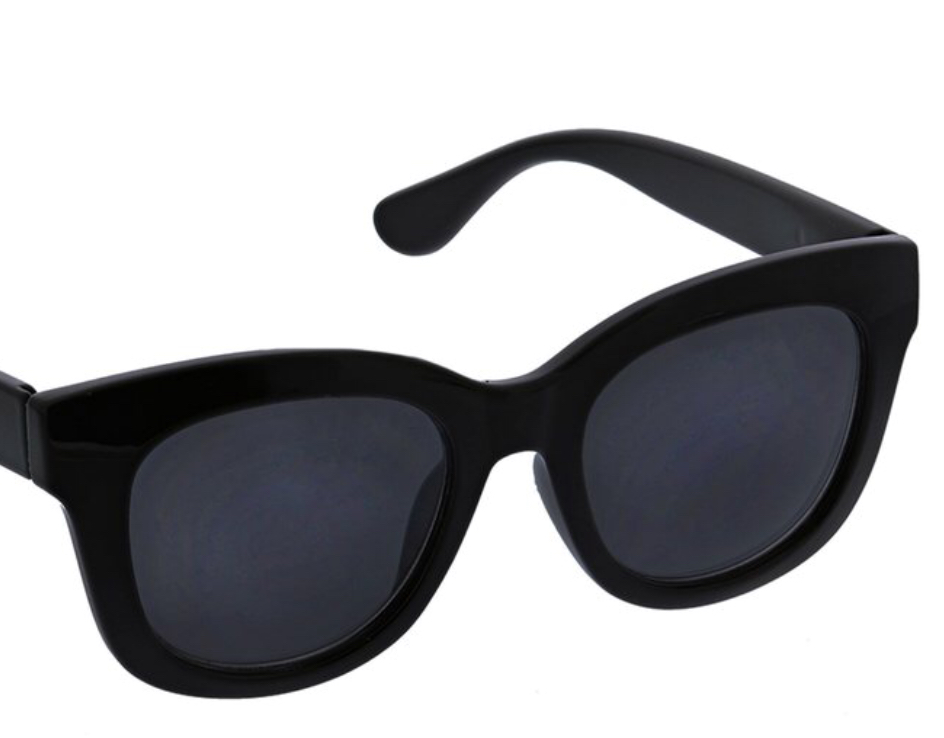Think Jackie O - I'm a fan of Peepers and its cute large-lens options for both no-correction polarized and readers (which I need) at $25 and under.