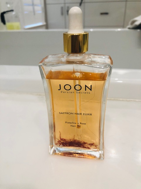 JOON    has an awesome hair oil with actual saffron threads in the glass bottle. I have fine hair but a lot of it, and oils can easily weigh it down. This one doesn't - the results are just beautiful. Makes my hair feel conditioned and with loads of shine.