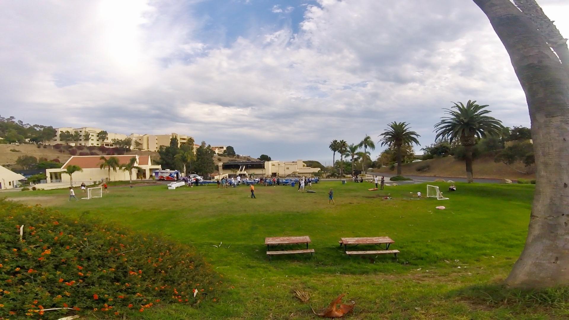 Soccer field above the Pepperdine pool