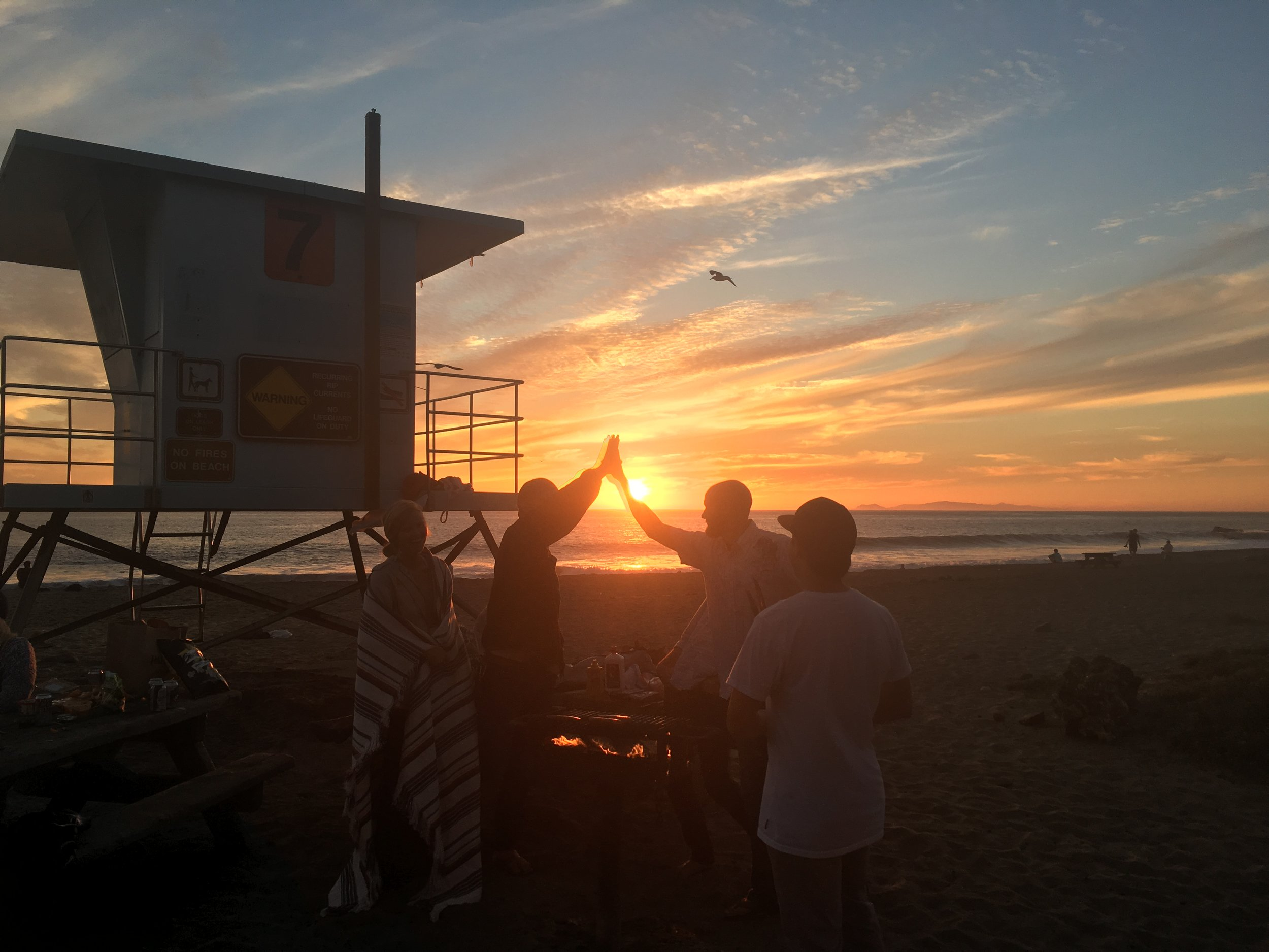 This past weekend at a gathering with friends, BBQ and sunset at Sycamore Cove