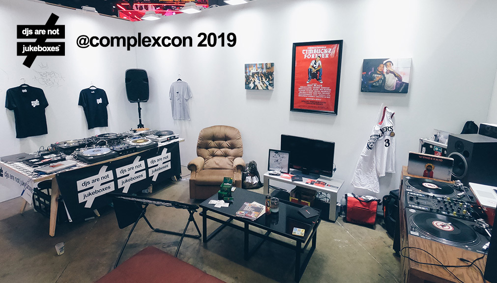 "Along with Skratcher Chicago, DJs Are Not Jukeboxes made an appearance at   ComplexCon   2019 via   Boi Jeanius   ' ""Living Room""  Pop-up."