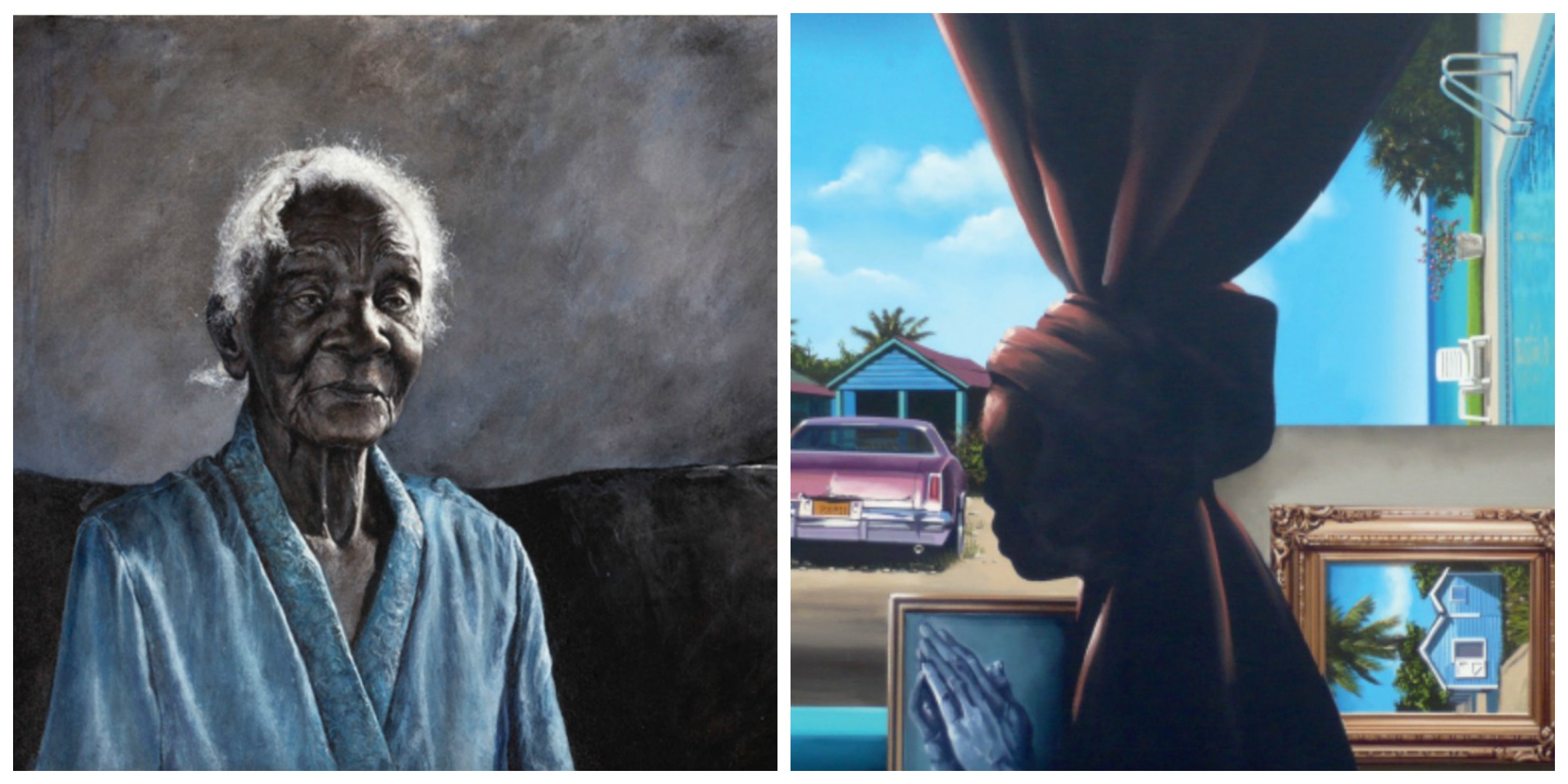 "From left:  Thierry Lamare Retrospective ""Love, Loss & Life"" from April 17 . Dave Smith as part of  Übersee: Cuba & The Bahamas from April 28 ."
