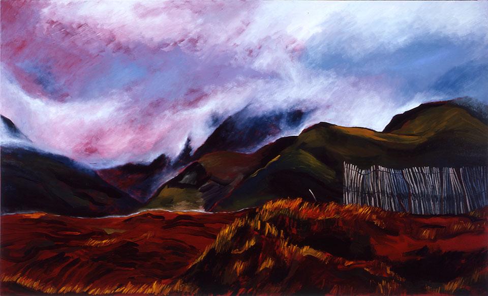 MacGilly Cuddy's Reeks, oil on canvas, 130x214cm.Photo Angelo Plantamura