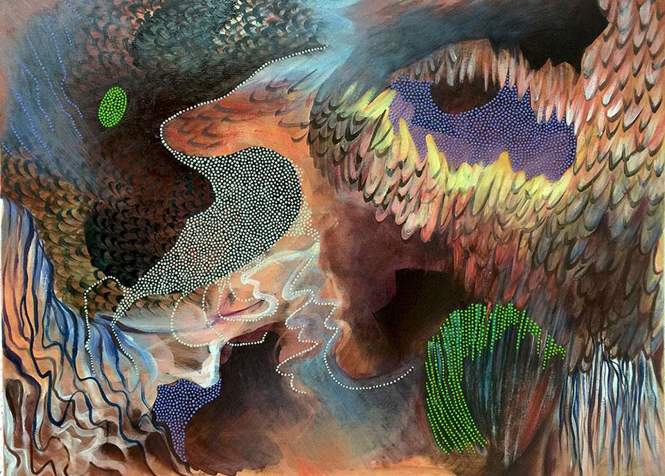 Diversification, oil on canvas, 65x80 cm.Photo Angelo Plantamura