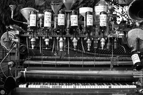 "We like this: In his surrealist novel ""L'écume des jours"" Boris Vian imagines a ""Pianocktail"" - a piano that mixes a cocktail to the tune of the pianist."