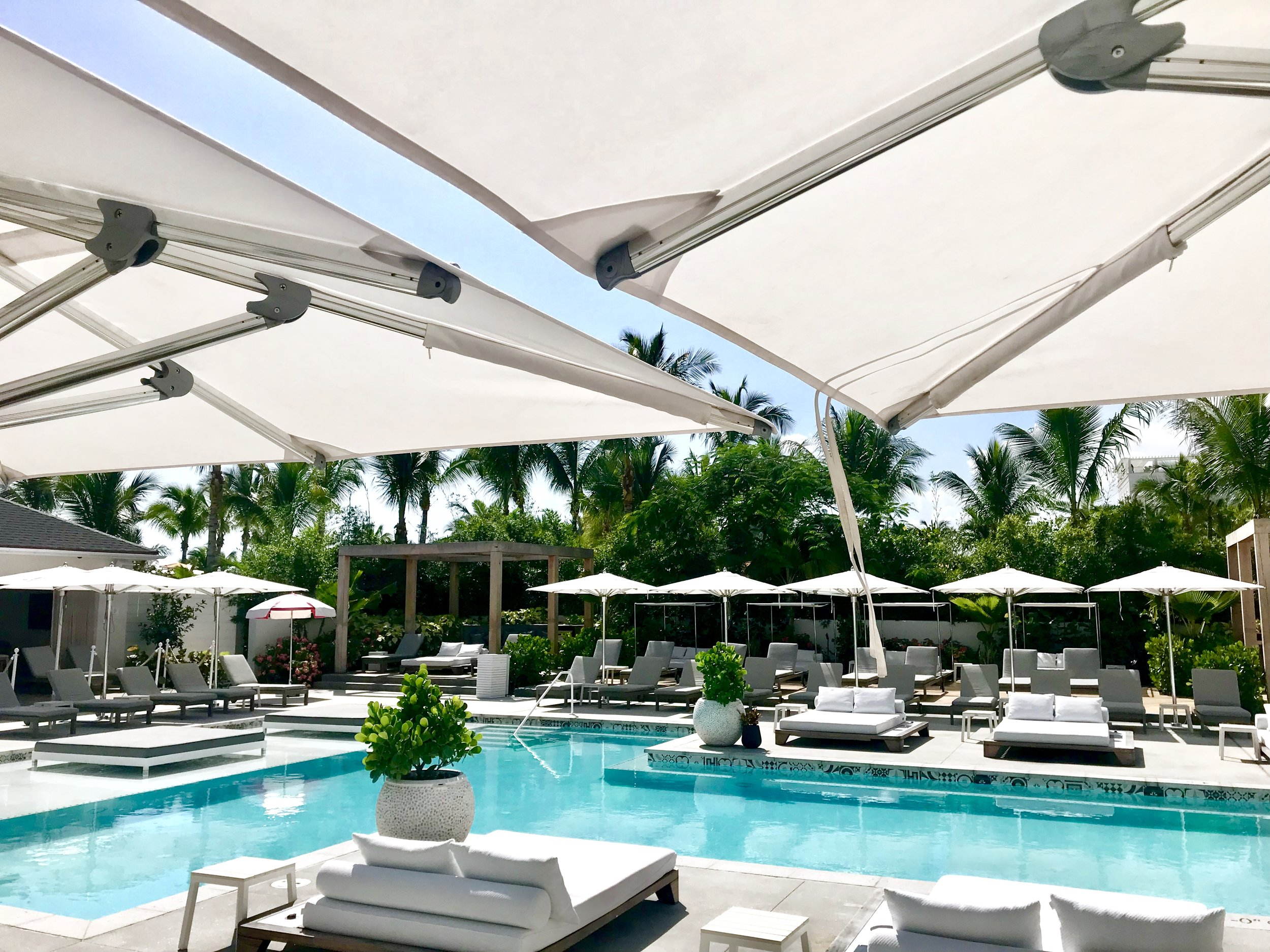 A poolside view of Privilege Pool at the SLS Baha Mar.