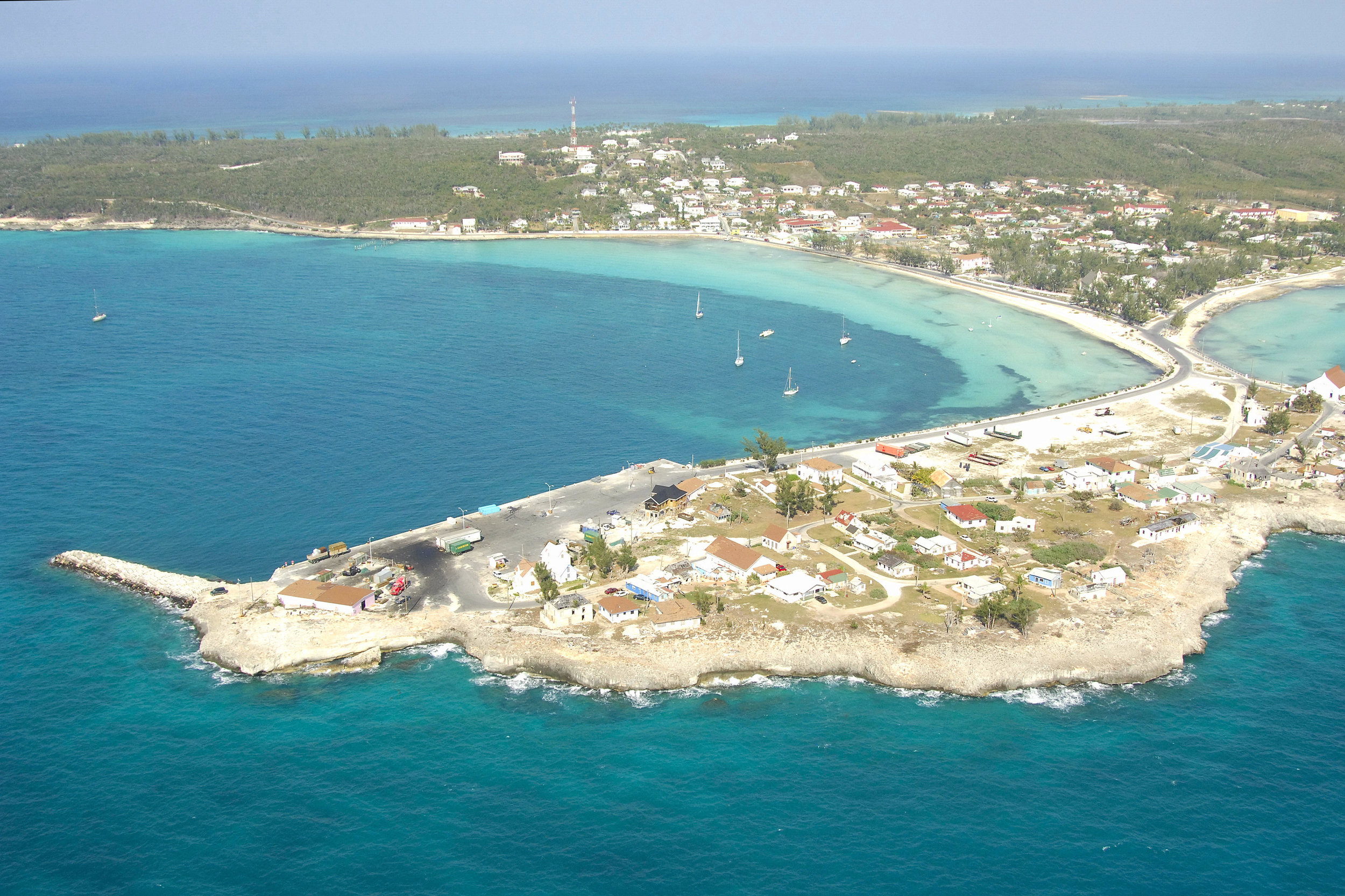 Aerial of Governor's Harbour. Image by Eleutheran Life.