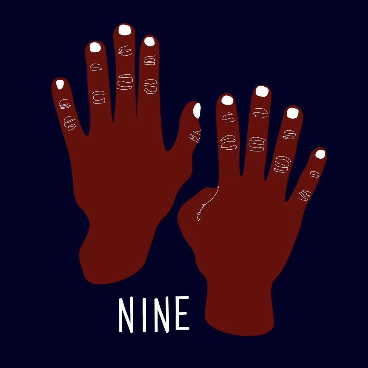 "The logo for Tessa's new studio, ""NINE"" designed by Cydne Coleby."