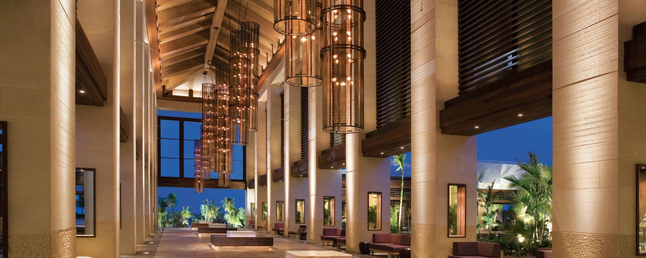 The Jeffrey Beers designed Atrium at The Cove Atlantis.
