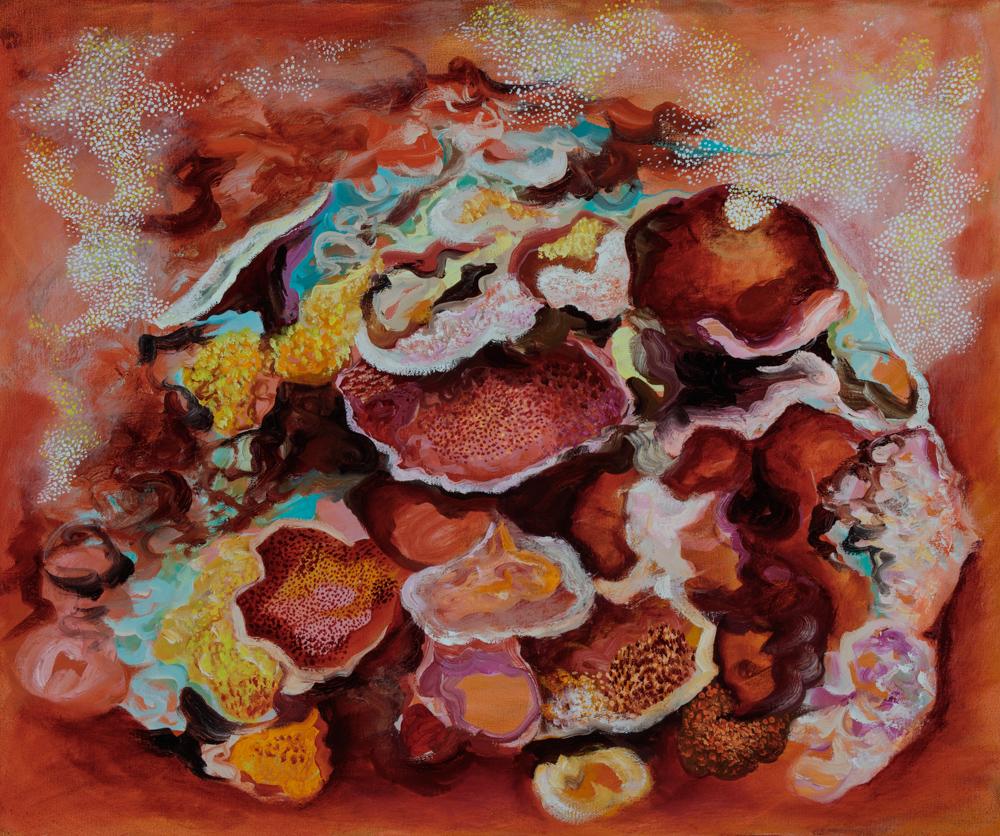 """""""Montipora 4"""", oil on canvas 51 x 61cm"""