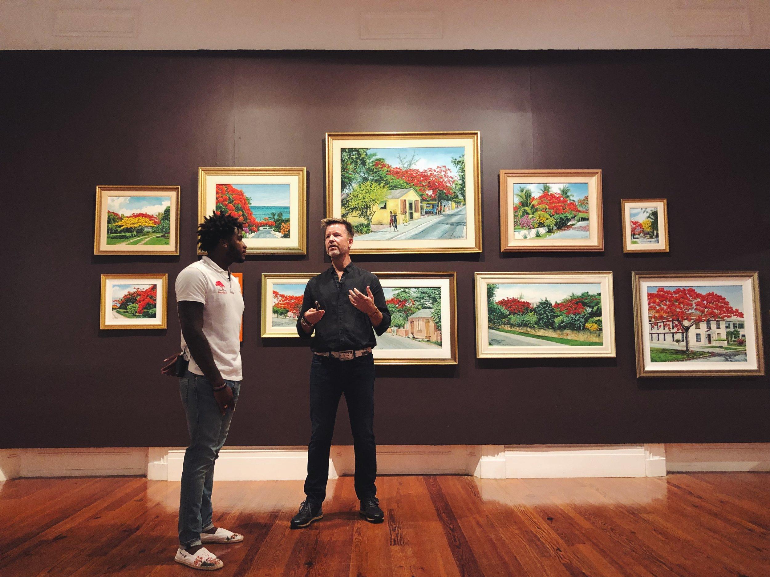 Fond flames of summer by Master Artist, Chan Pratt through the eyes of his son - DC Pratt.