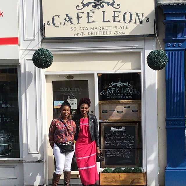 In 2012 we helped set up a cafe In Malawi - named Cafe Leon - the cafe was named after this cafe in Driffield. A great pleasure to introduce these two Malawian ladies to Cafe Leon Driffield.
