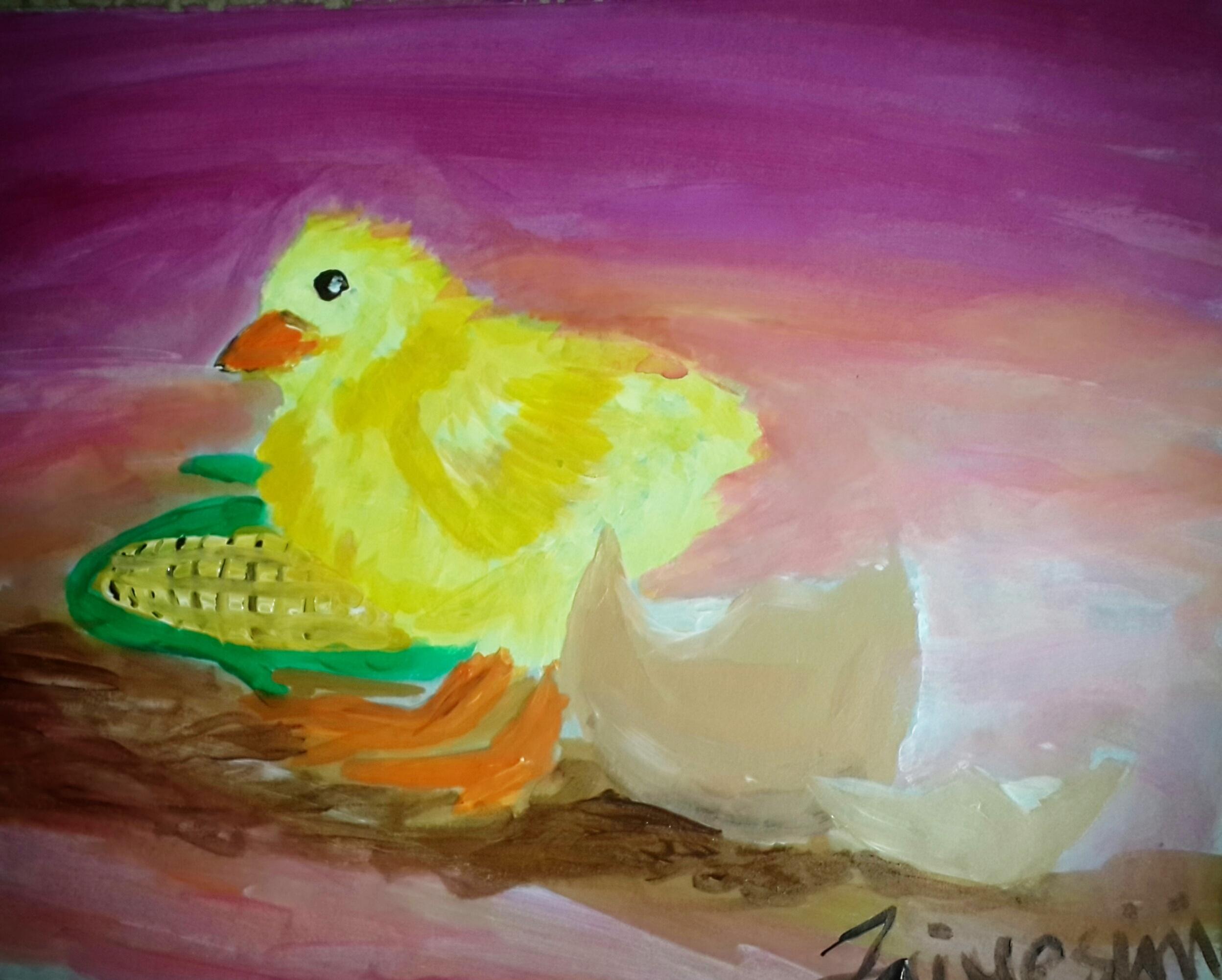 Hand Painted Image by Ibukun Jaiyesimi