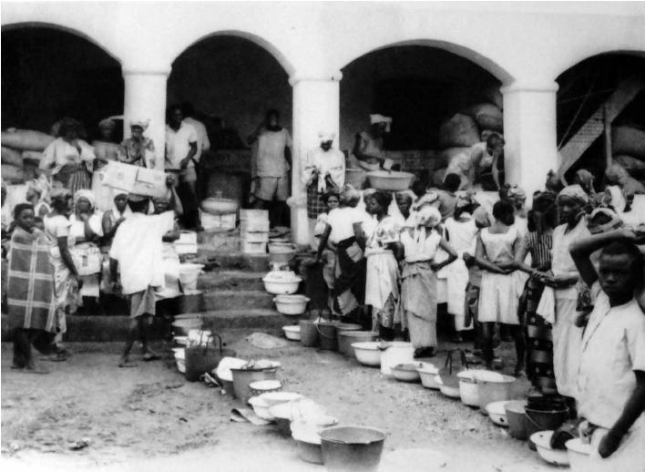 Refugees At A Catholic Mission, Asaba, 1968.
