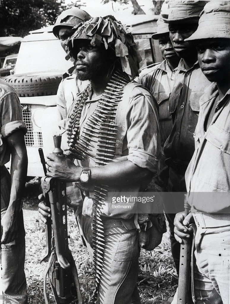 A Federal Soldier In Agwu, Nigeria In 1968.