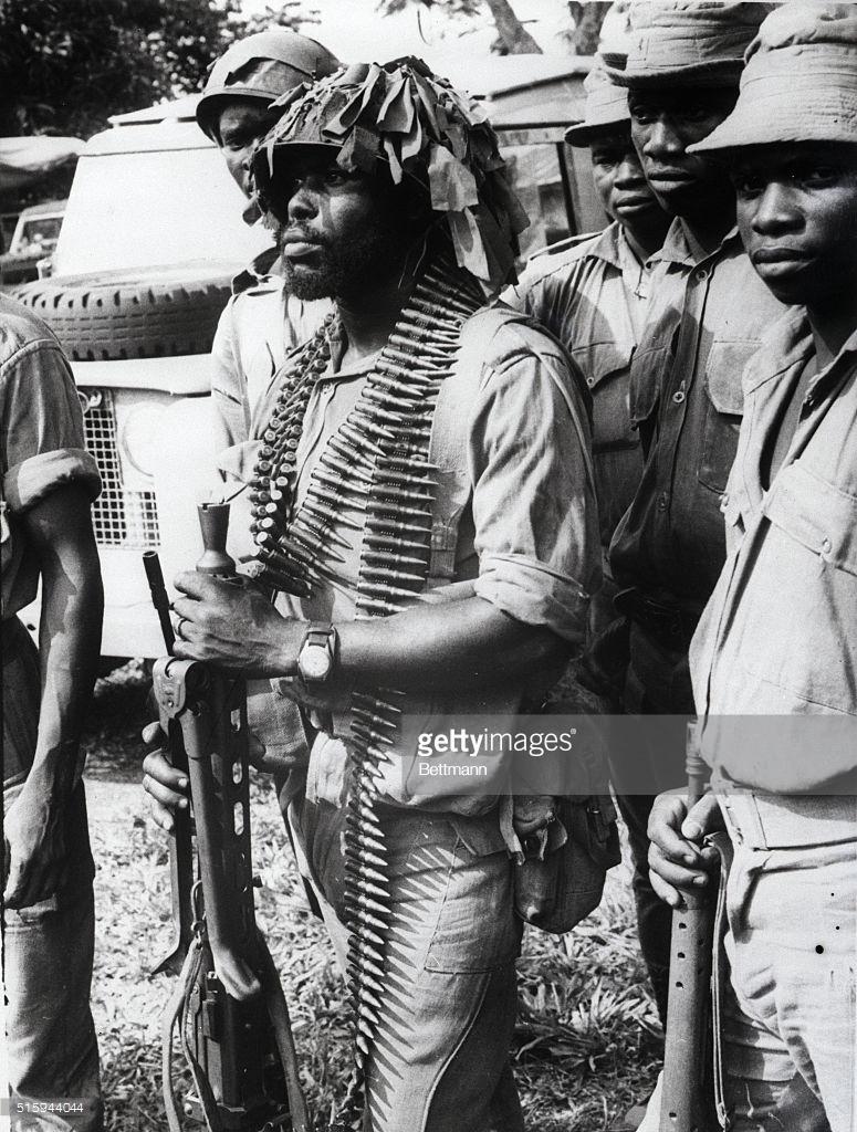 A Federal Soldier In Agwu, Nigeria In 1968.