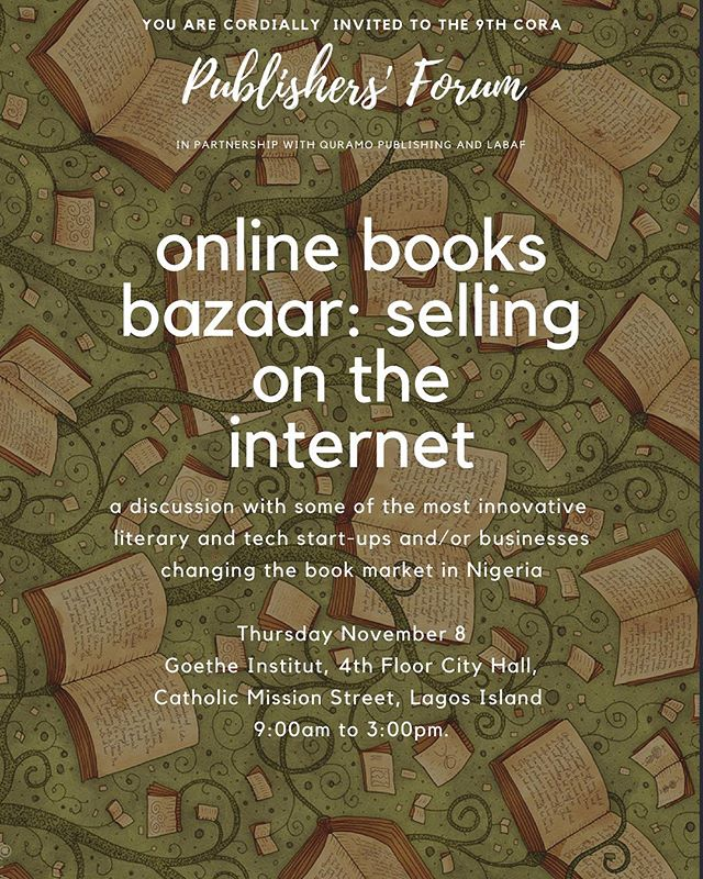 Today, we'll be joining #LABAF and @QuramoPublishing on the Publishers' Forum, discussing the business/mechanics of selling books online in Nigeria. We'll be in good company with @rovingheights and @okadabooks, too! Come, come, interact and join the conversation. Tell us how to serve you better and make African literature more accessible. 2pm, City Hall! 👋🏾