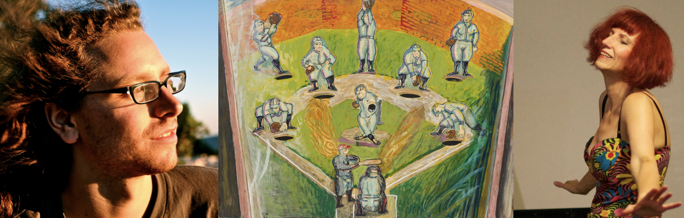 """FROM LEFT: PHOTO OF DYLAN MATTINGLY; PAINTING """"PINBALL BASEBALL"""" BY CHARLES GARABEDIAN (1966); PHOTO OF KATHLEEN SUPOV´E"""