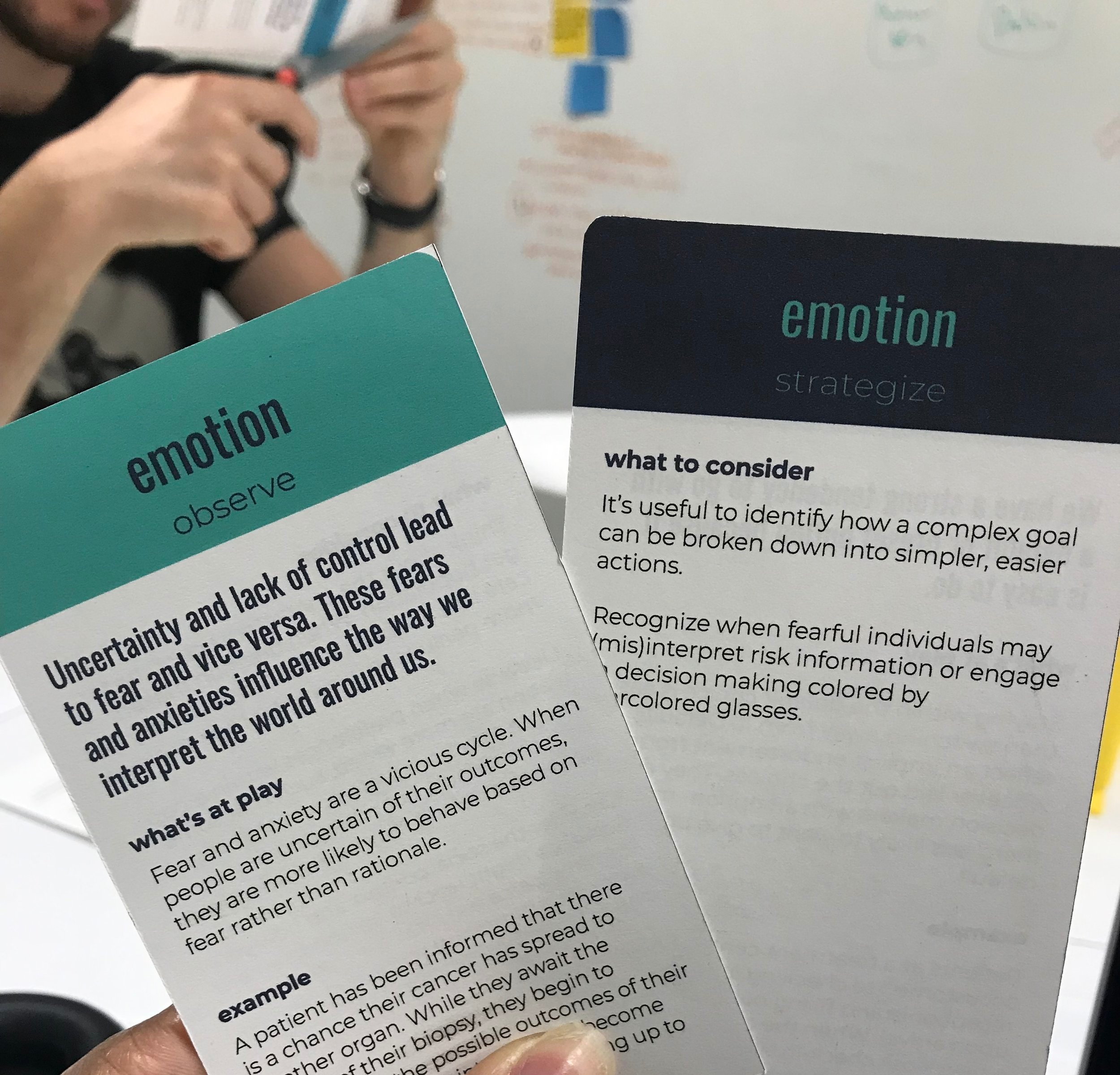 Close up of the 'Emotion' B-card