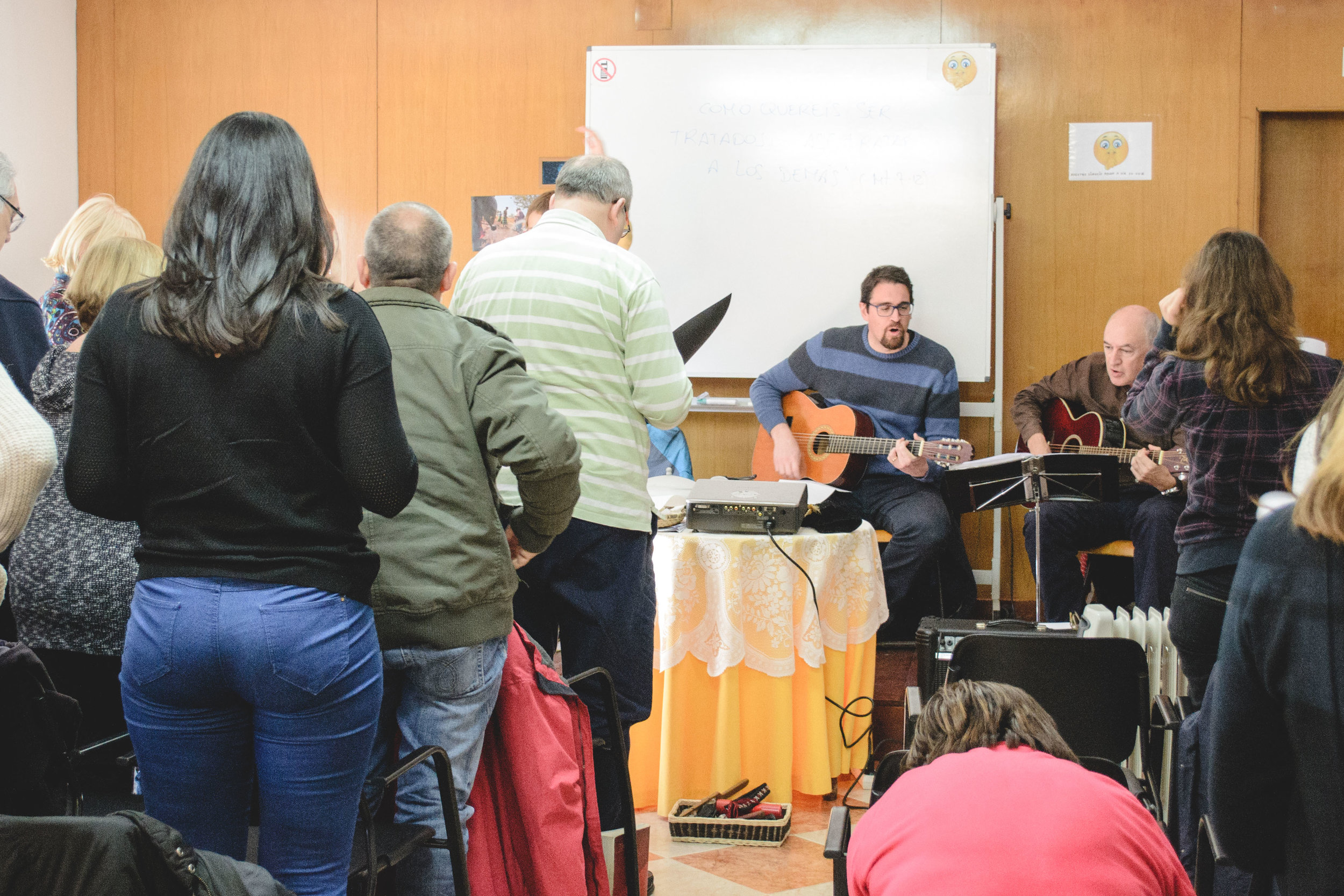 The Sunday-morning worship service in Barcelona -- full of passion and love