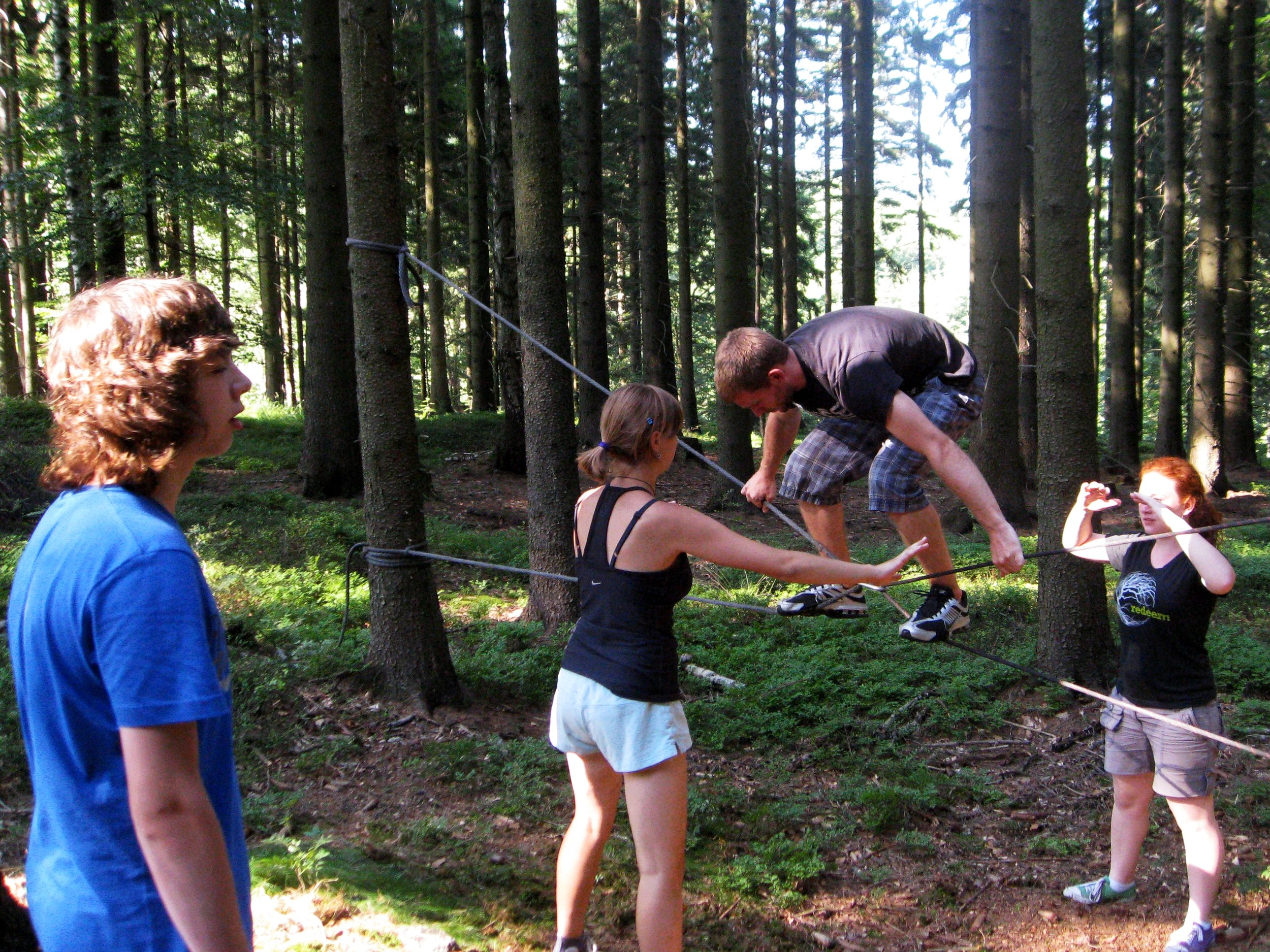 """Teamwork, competition, and physical challenges were a great catalyst for relational growth. Alisha gets an """"A"""" for effort..."""