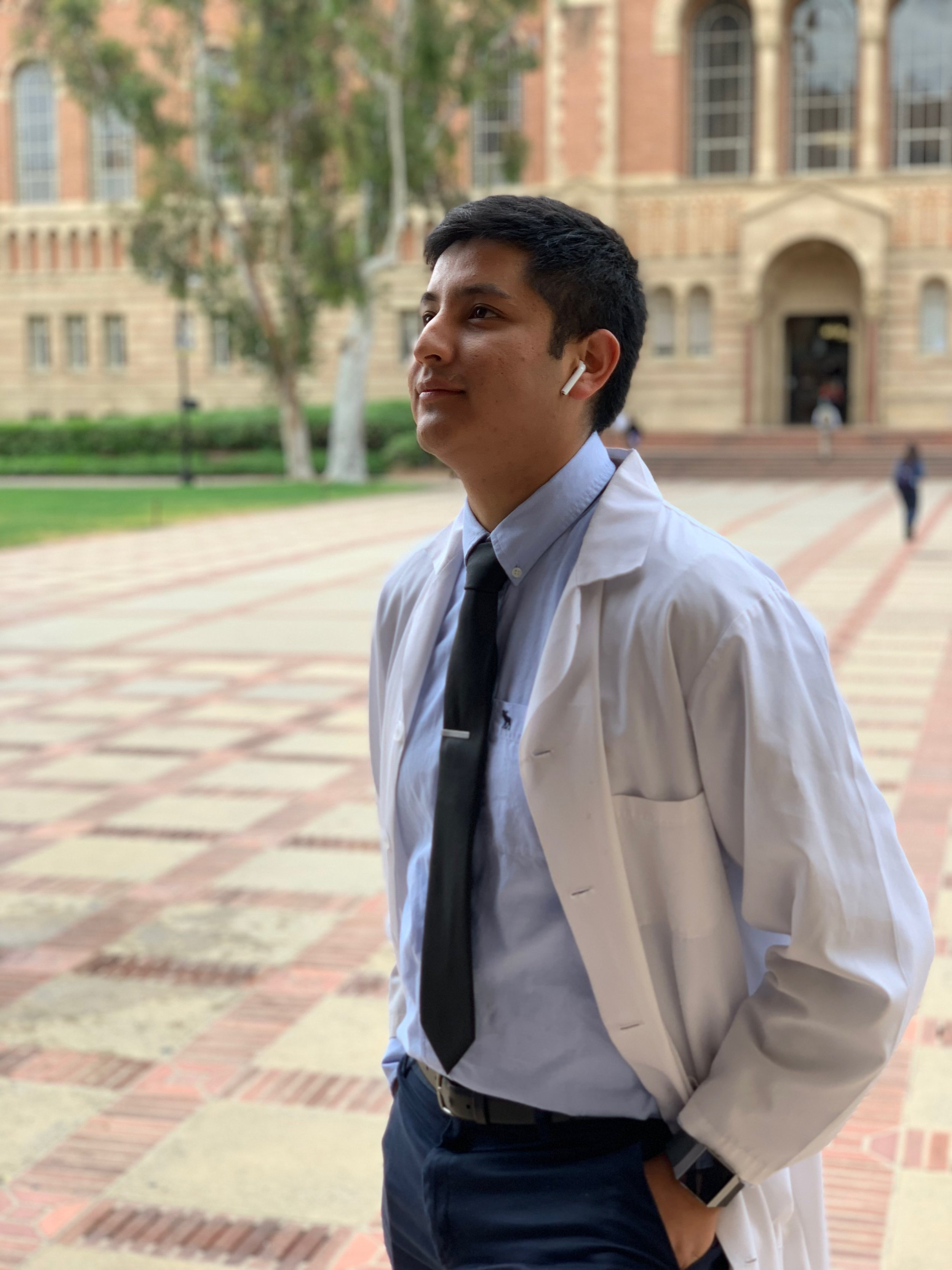 Johnny Diaz is an undergraduate majoring in Molecular, Cell & Developmental Biology with a minor in Biomedical Research. Johnny is supported by a UCLA Center for Academic & Research Excellence (CARE) Scholarship to investigate the effects of distinct oncogenes and oncogene combinations on prostate epithelial cells.