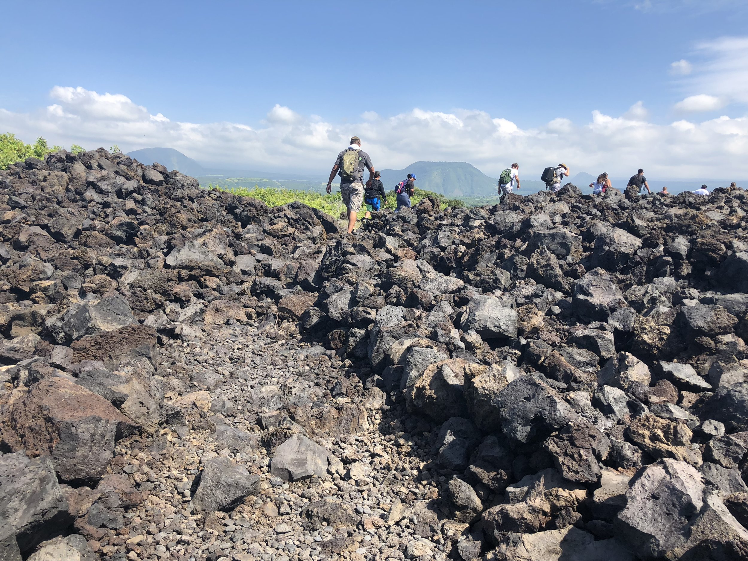 Community Members hike from Punaluʻu to Kawa, Kaʻu with Ala Kahakai Trail Association.