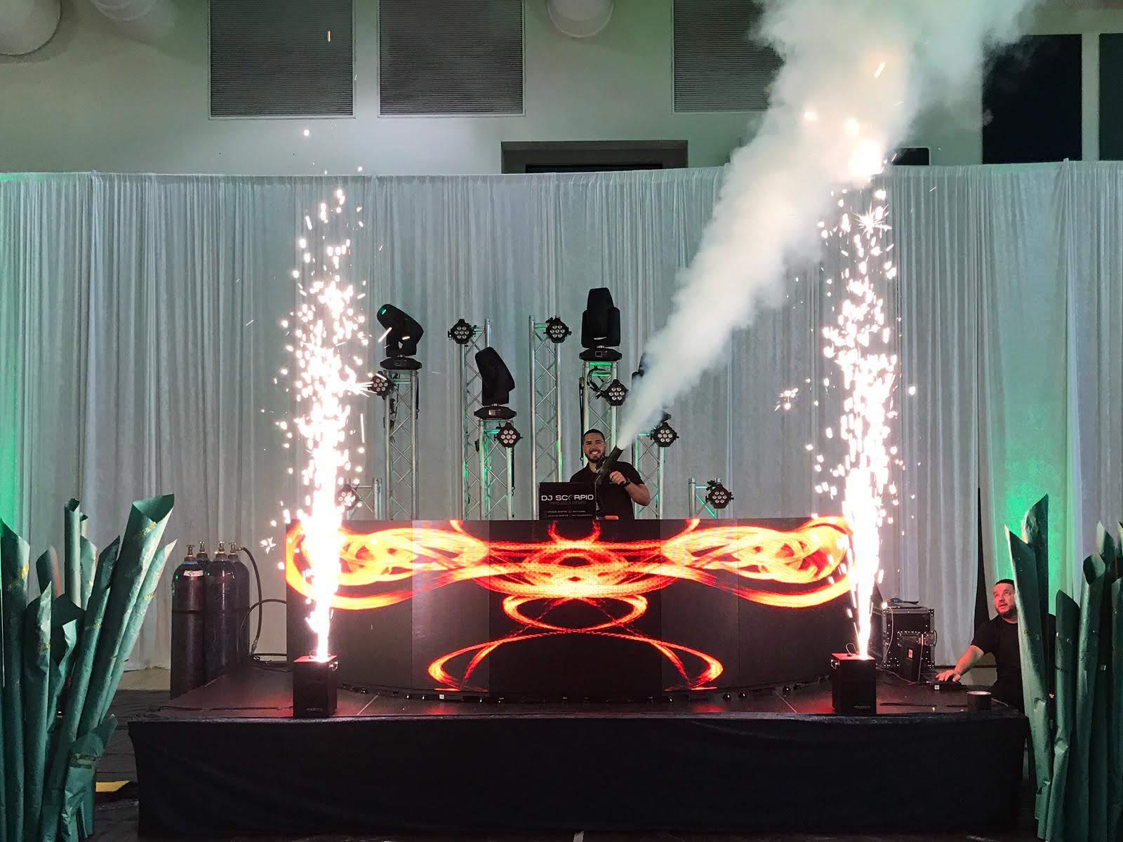 Cold Spark Fountain DJ Set Up Co2