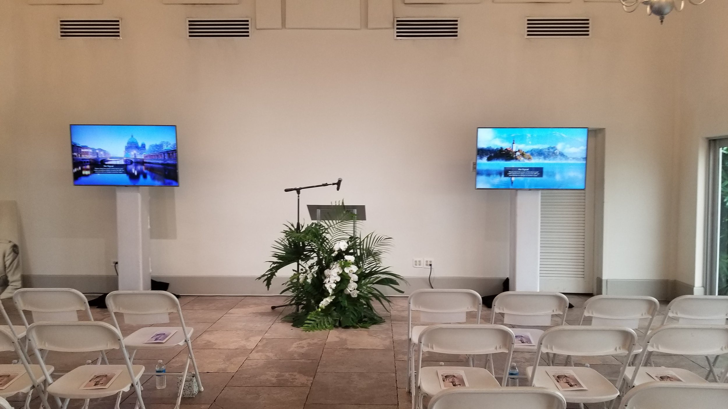 TV Display for Funeral Montage