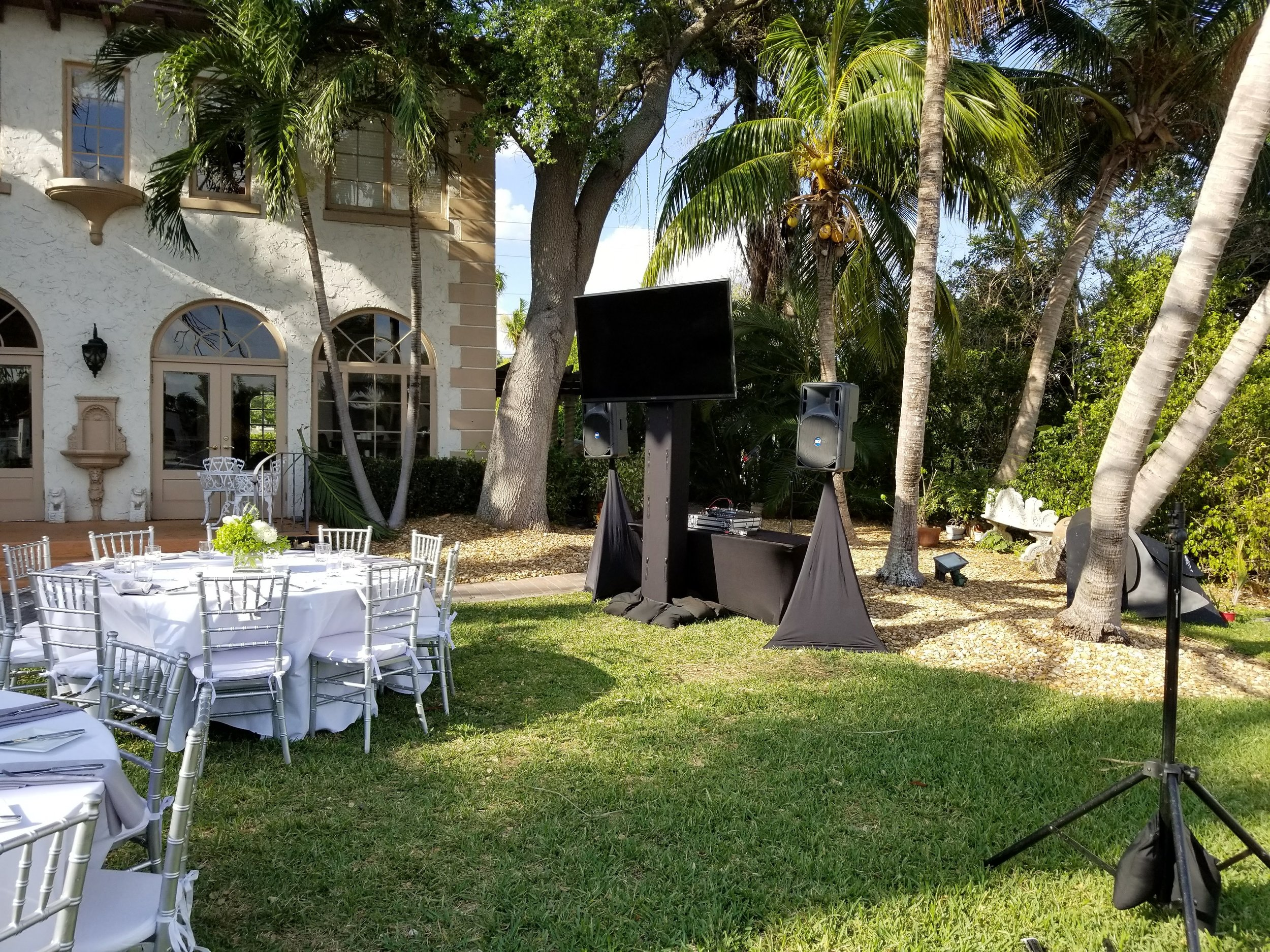 Outdoor Events with TV Display