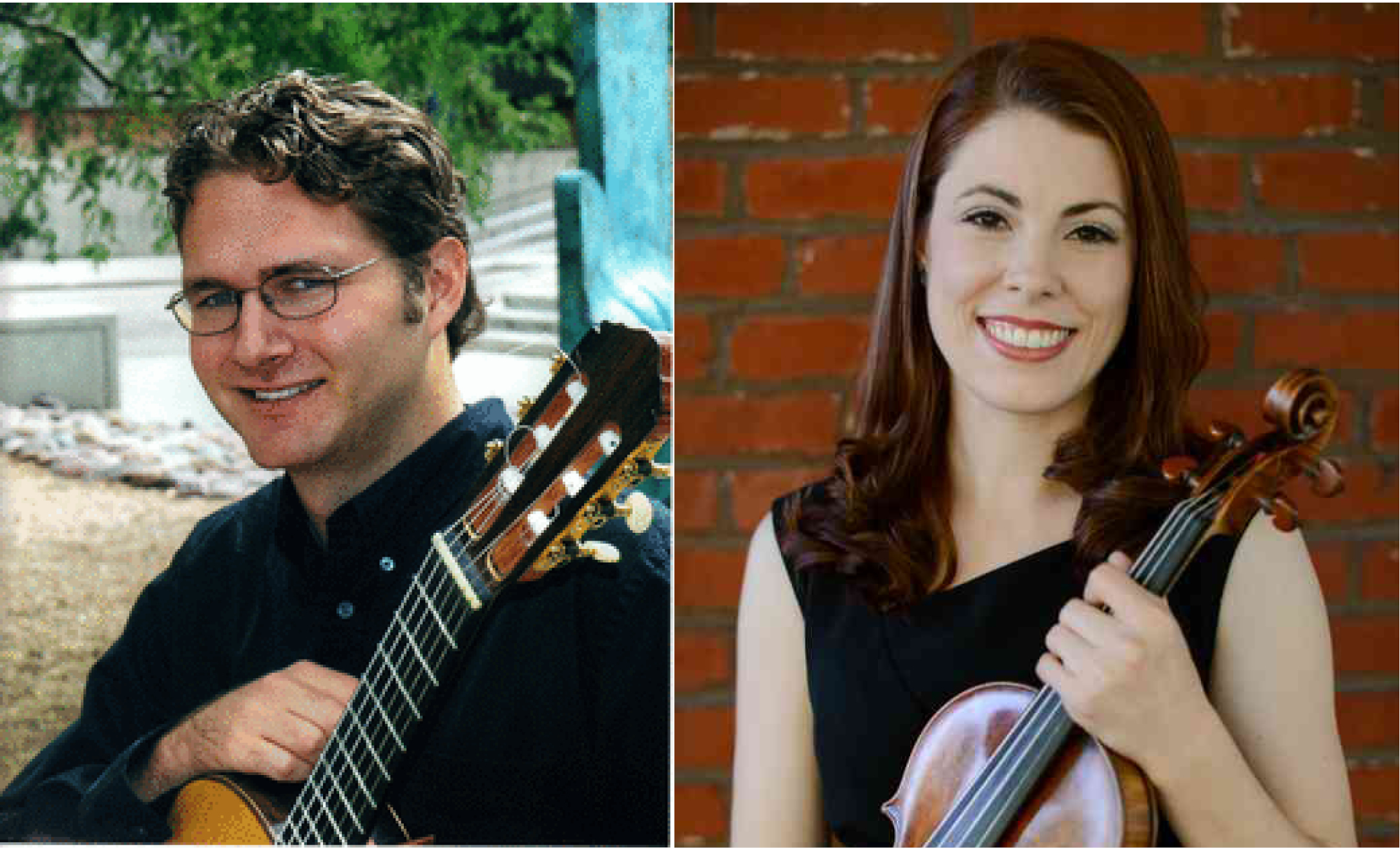 Cale Hoeflicker (guitar) and Molly Christie (violin)