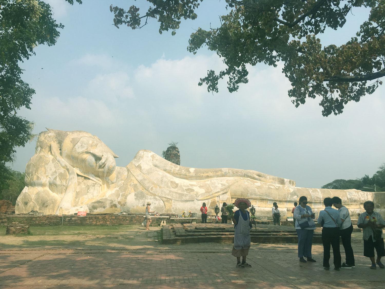 Ayutthaya leaning Buddha in Bangkok