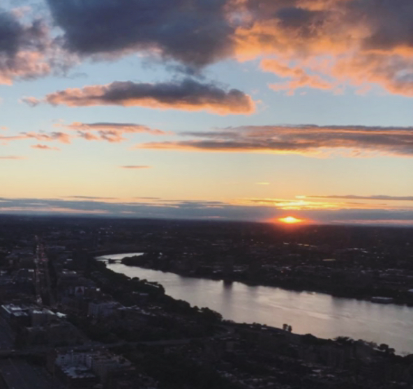 boston sunset prudential tower