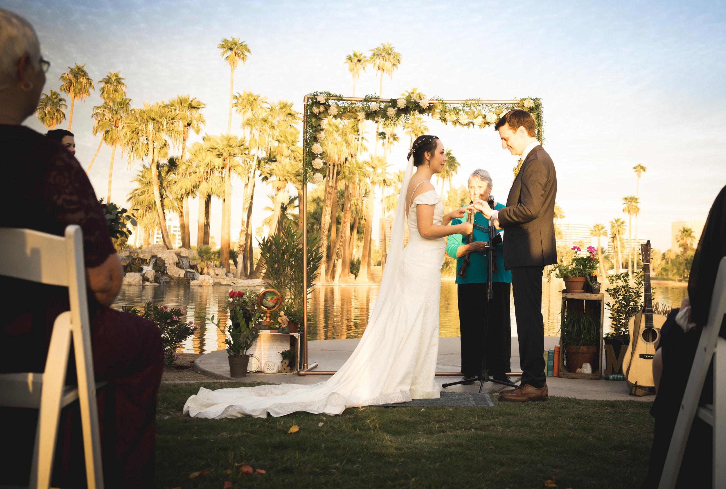 diy ceremony decor wedding encanto park arizona phoenix weddings scottsdale budget