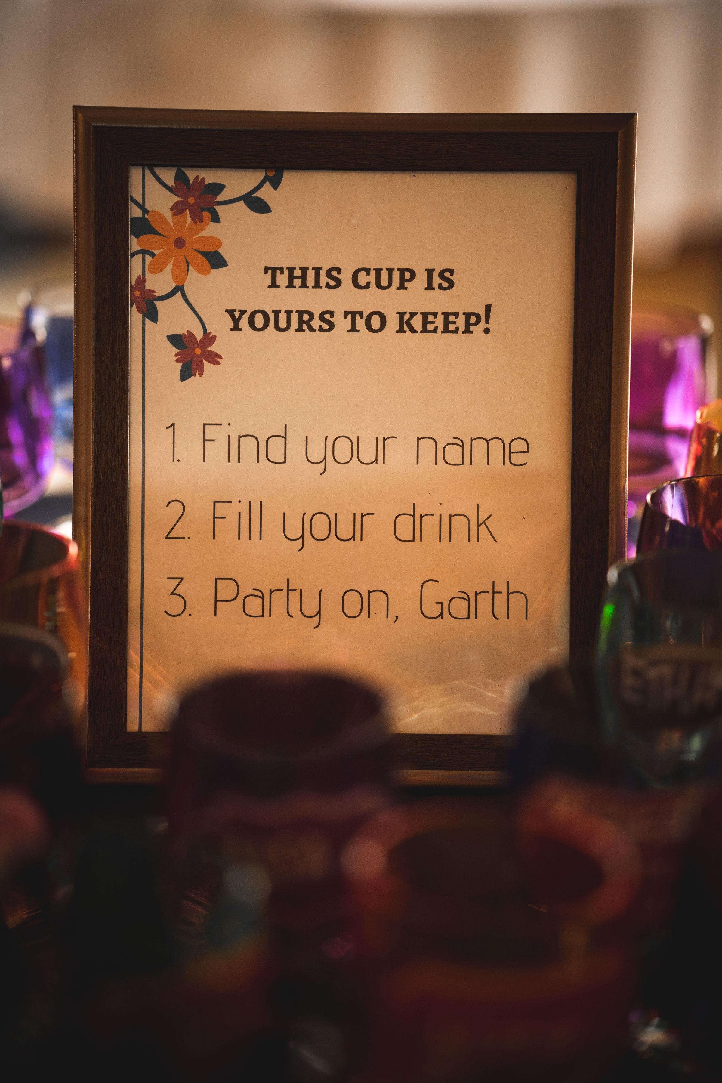 find your cup wedding idea reusable wedding favors budget wedding phoenix az