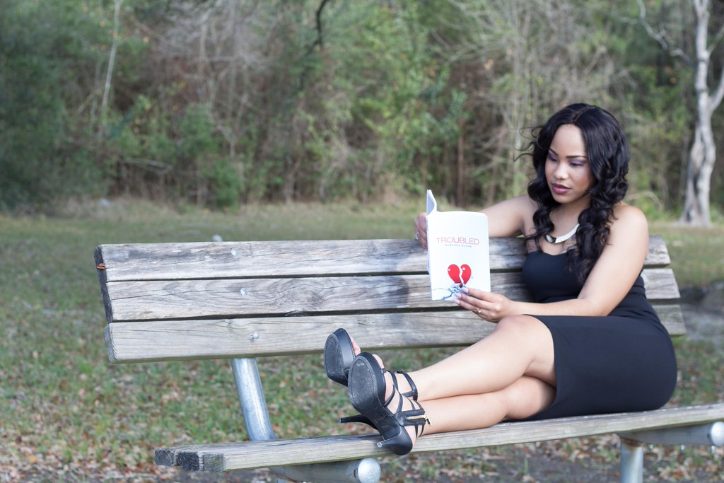 """Troubled The Book"" Photoshoot - Author Maranda Evans"