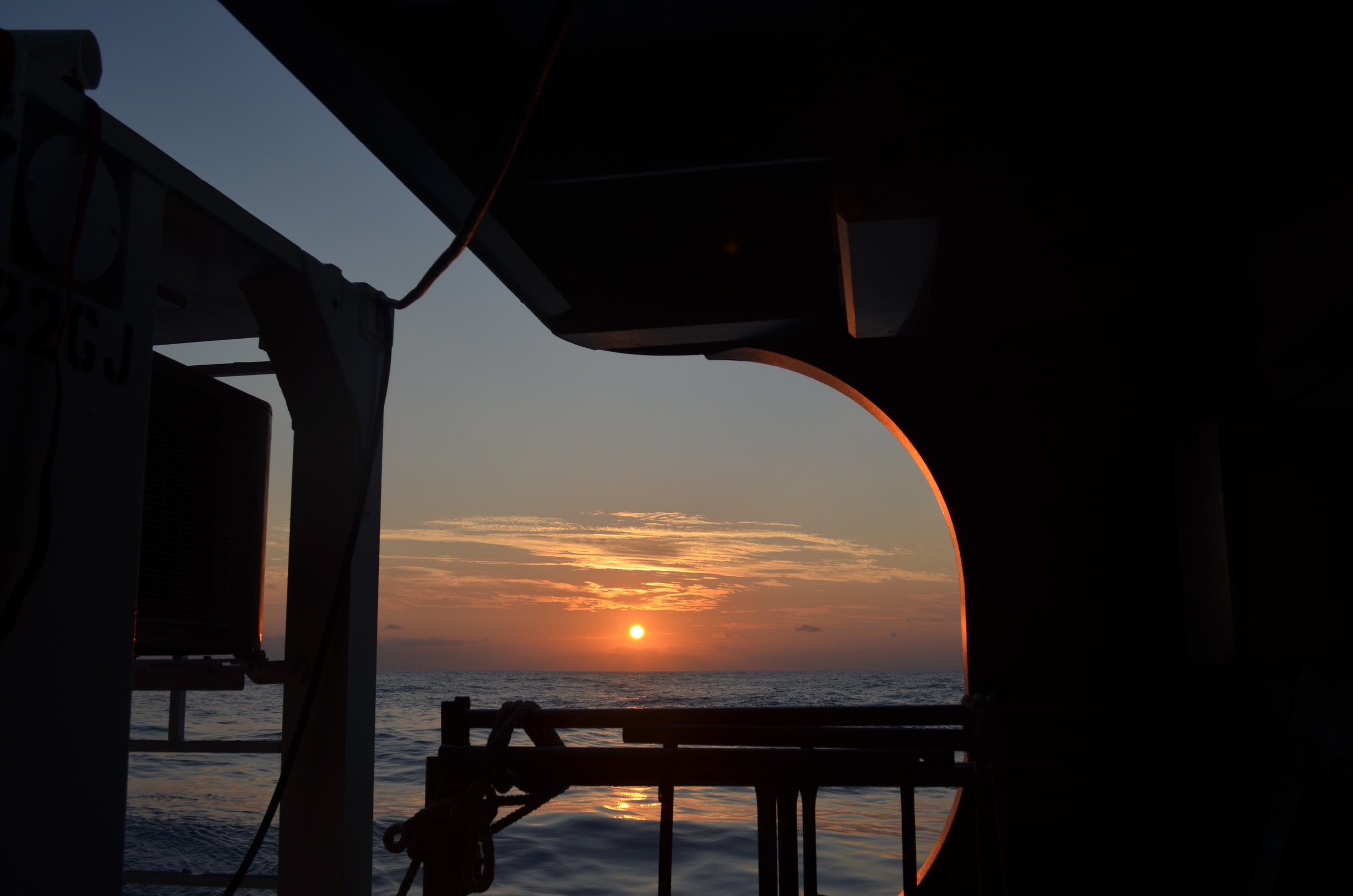 Just another sunrise on the Sargasso Sea. Photo by Mariko McNamara.