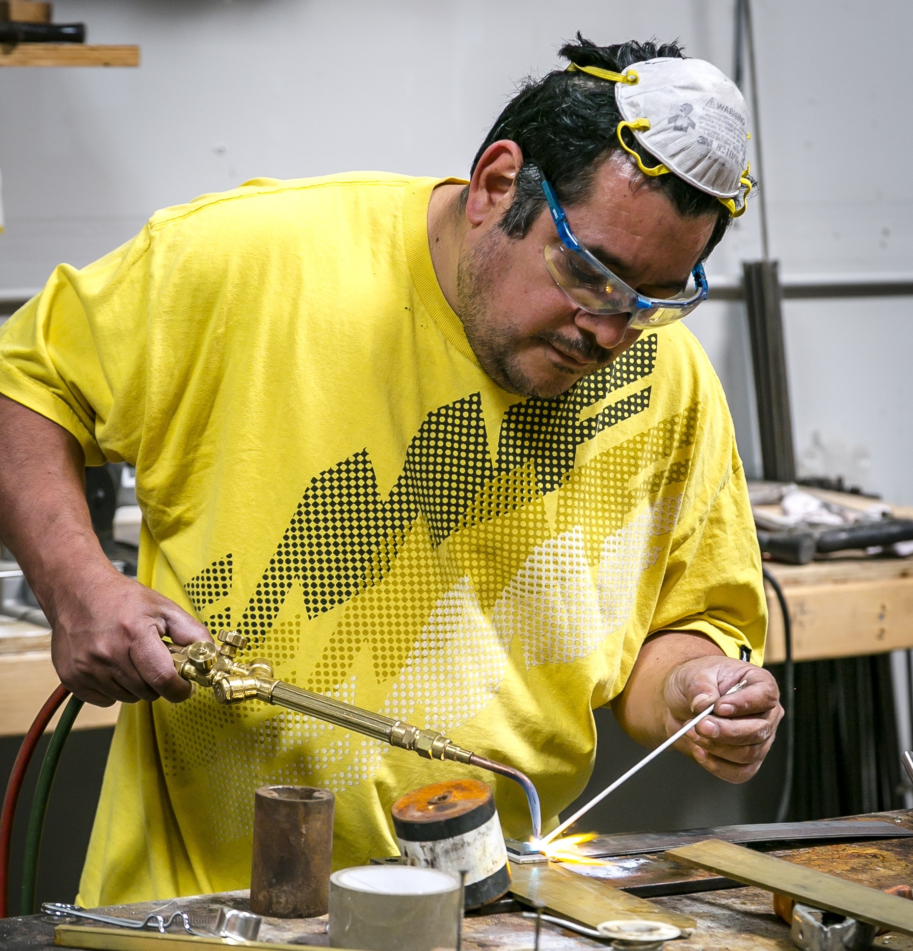 Ronald Orellana   A key member to our team, Ronald has had 17 years of lighting restoration experience and has been with dogfork for 10 years. He is extremely skilled at halogen, LED and fluorescent lighting along with incandescent wiring. Ronald also has a meticulously sound hand at drilling glass and ceramics along with the tricky art of brazing. His attentive ability to note the types and brands of quality parts that move through our shop helps us maintain our wide range of high-grade lighting parts. When Ronald is not at Dogfork he likes to relax at home and watch sports.
