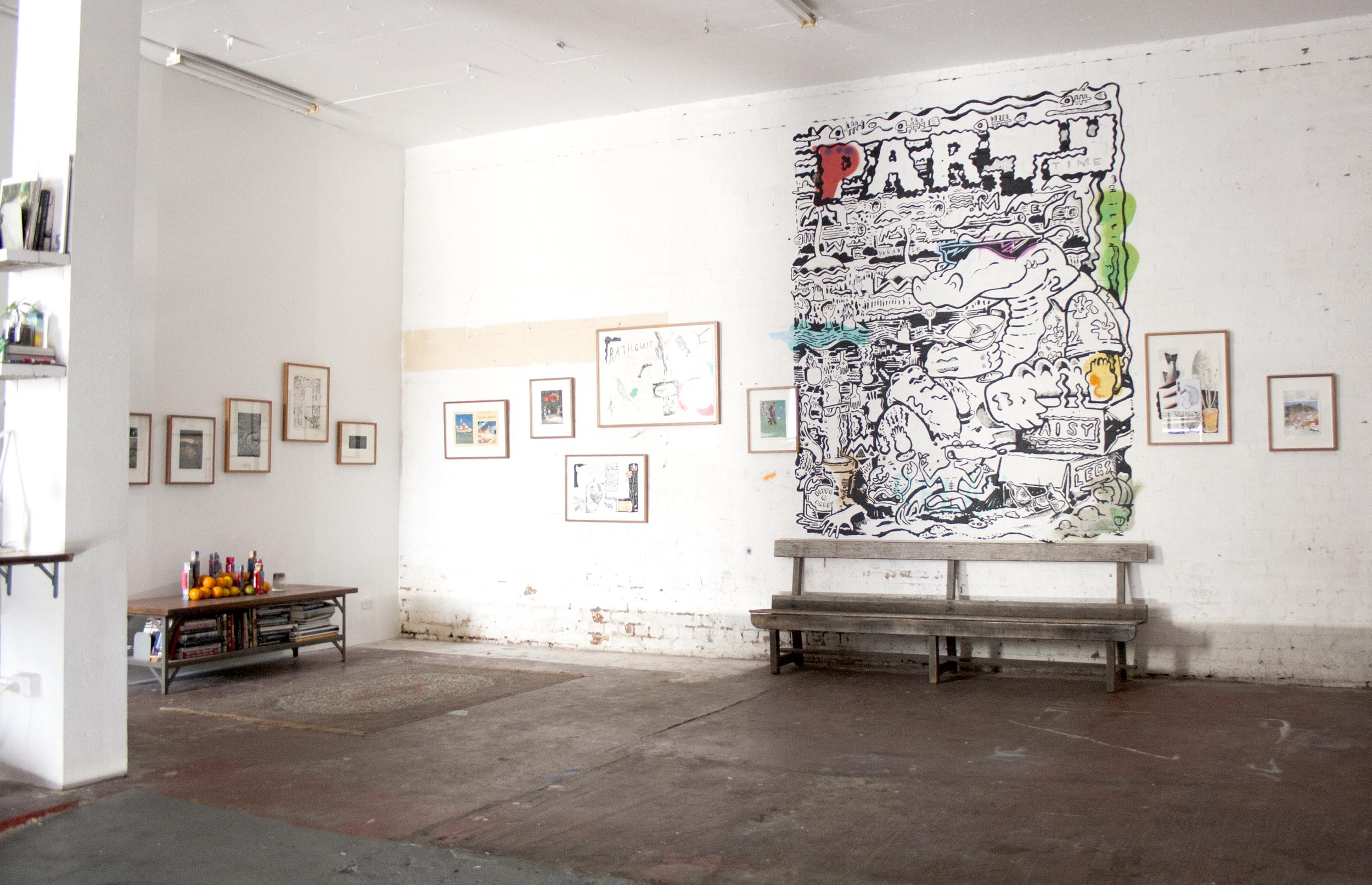 Installation view  Daisylegs Opening featuring Fraser Island (joint exhibition with Jamie Edward)   July 22nd - August 8th, 2014  Daisylegs, 9 Carlton Street, Prahran, Victoria, Australia