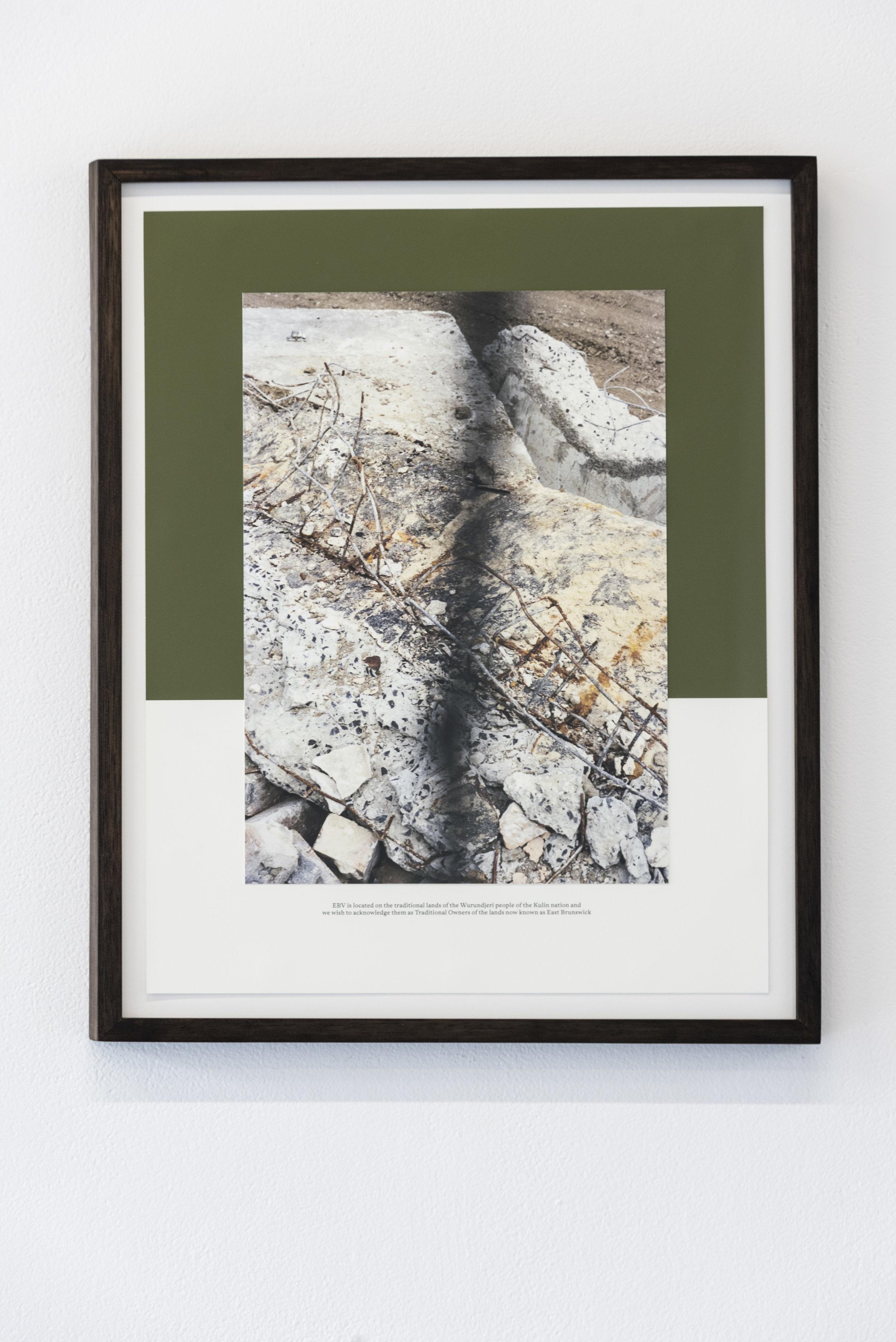 Rebecca McCauley  Nicholson St (East Brunswick Village)   Mounted Giclee Print with company copy  25 x 35 cm  2018  Photo by Aaron Claringbold
